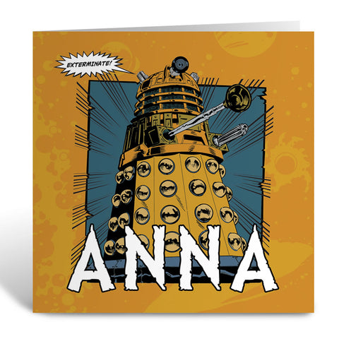 Dalek Personalised Greeting Card