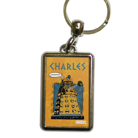 Dalek Personalised Metal Keyring