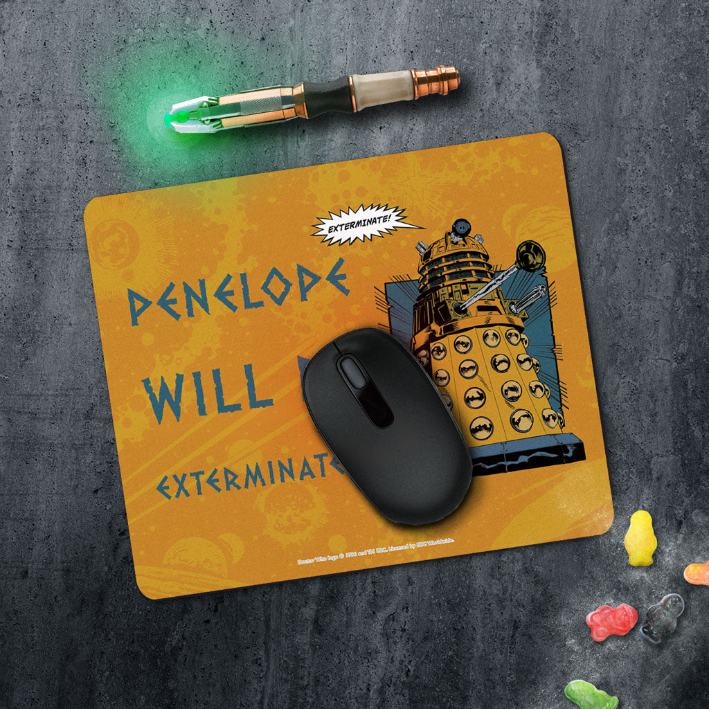 Dalek Personalised Mousemat (Lifestyle)