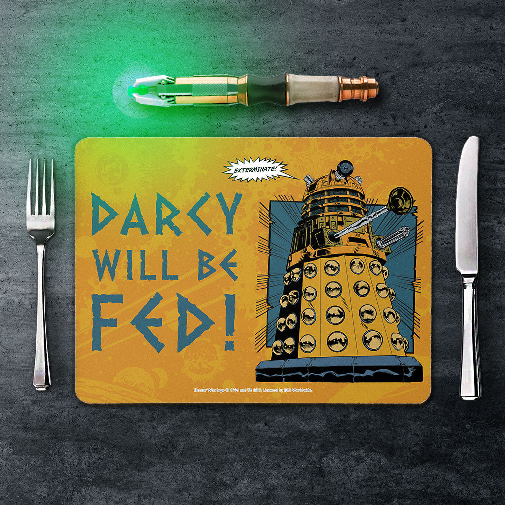 Dalek Personalised Placemat (Lifestyle)