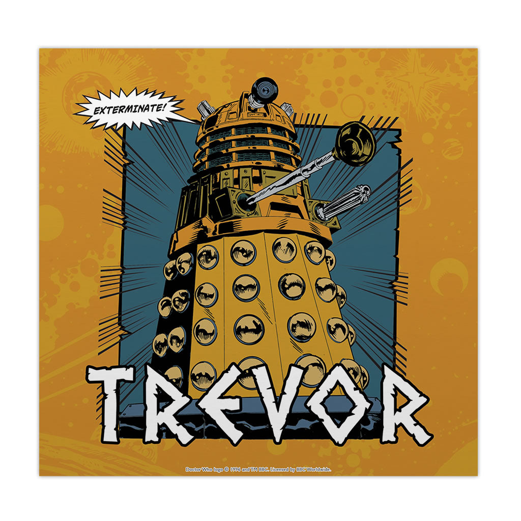 Dalek Personalised Square Art Print