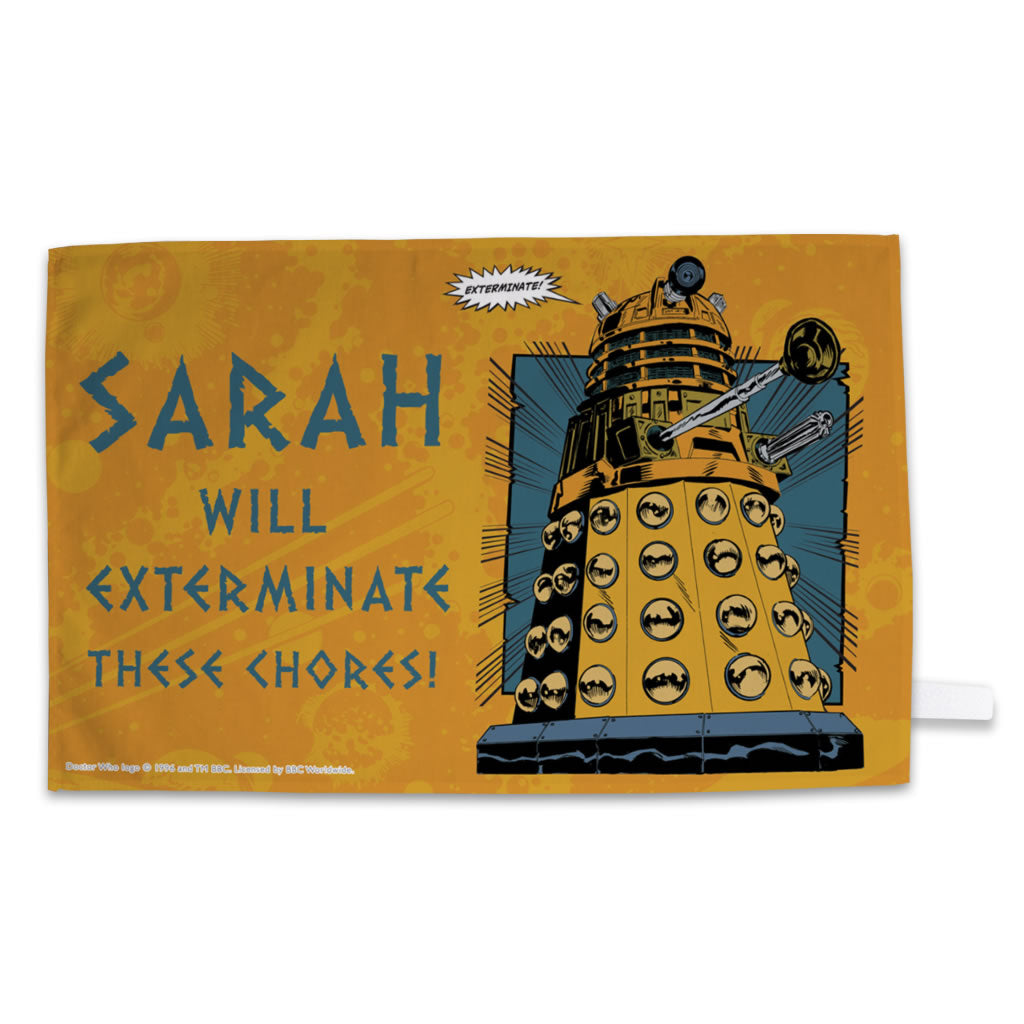 Dalek Personalised Tea Towel