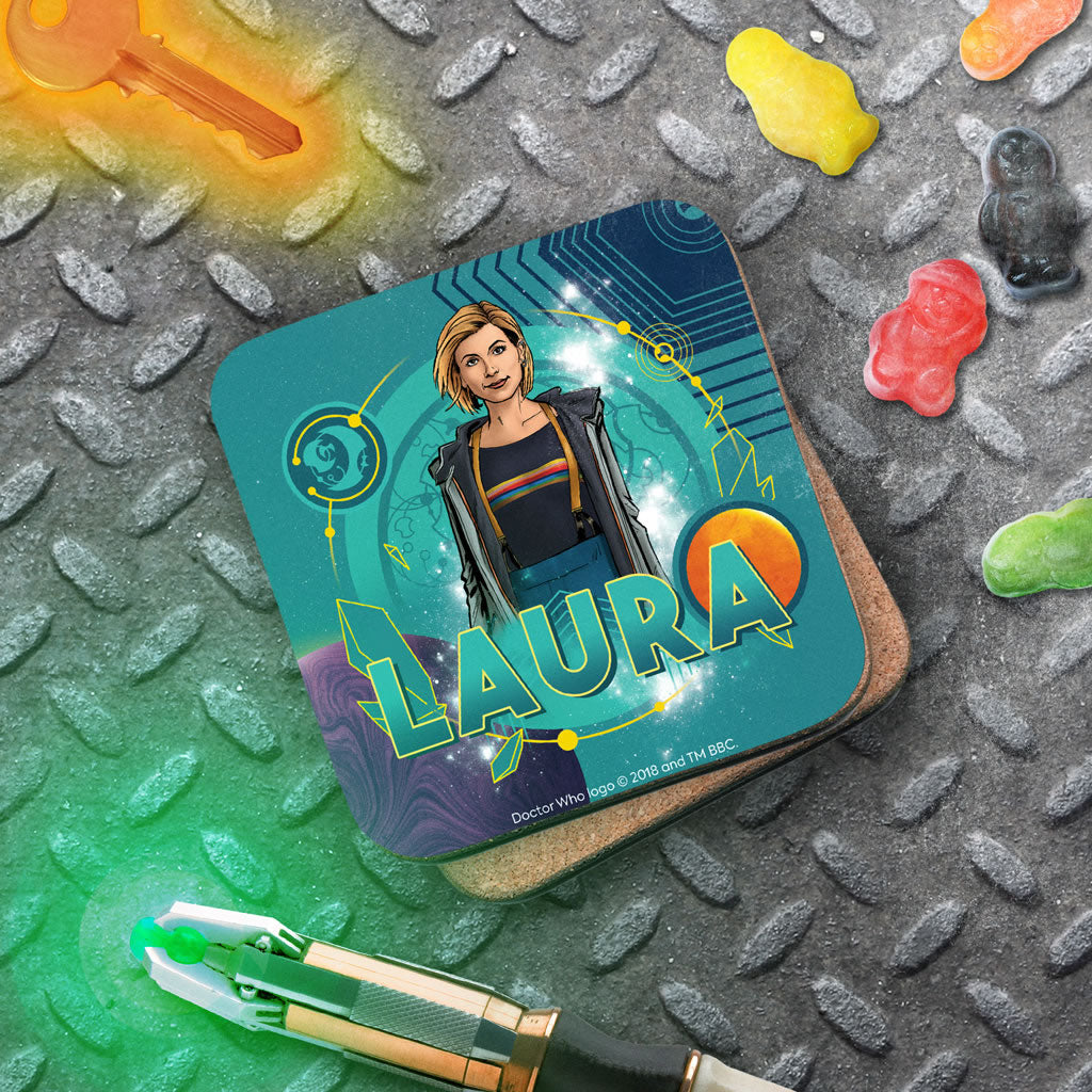 Thirteenth Doctor Personalised Coaster (Lifestyle)
