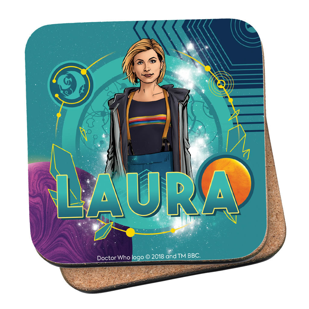 Thirteenth Doctor Personalised Coaster