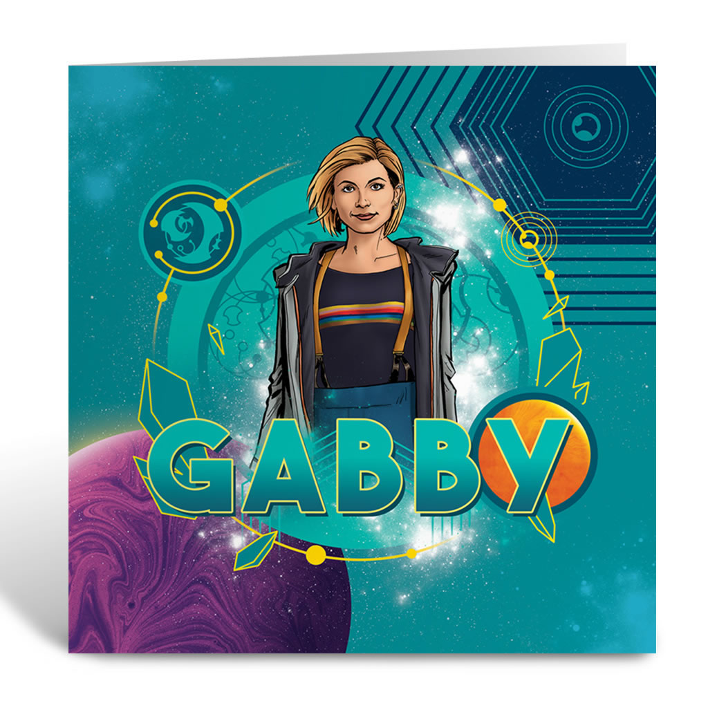 Thirteenth Doctor Personalised Greeting Card