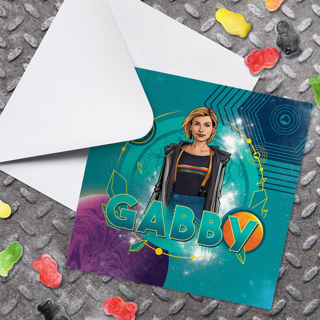 Thirteenth Doctor Personalised Greeting Card (Lifestyle)
