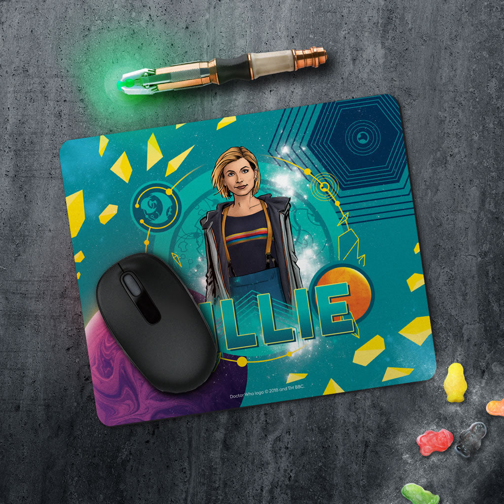 Thirteenth Doctor Personalised Mousemat (Lifestyle)