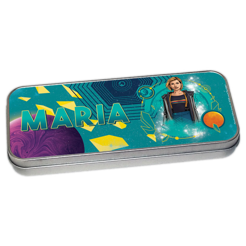 Thirteenth Doctor Personalised Pencil Tin