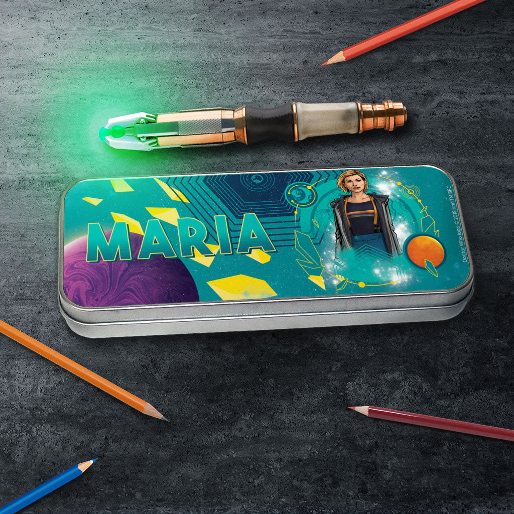 Thirteenth Doctor Personalised Pencil Tin (Lifestyle)