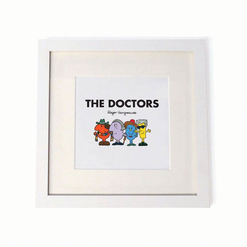 Mr. Men - The Doctors Square Print