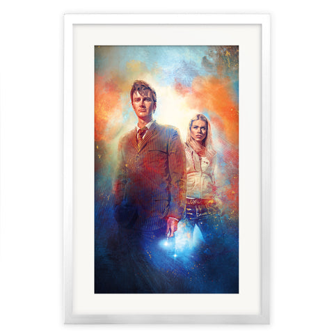 Limited Edition Gold Foil Tenth Doctor and Rose Art Print