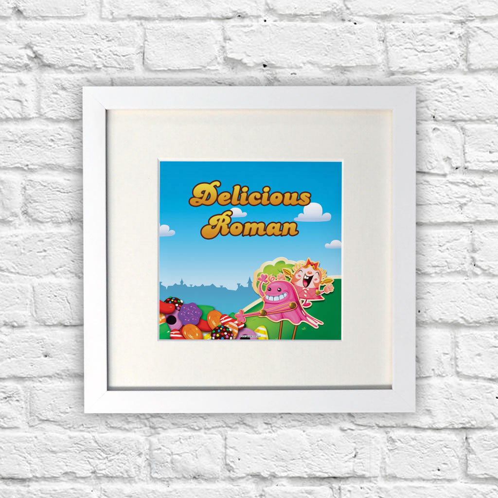 Bubblegum Troll Grab White Framed Print (Lifestyle)