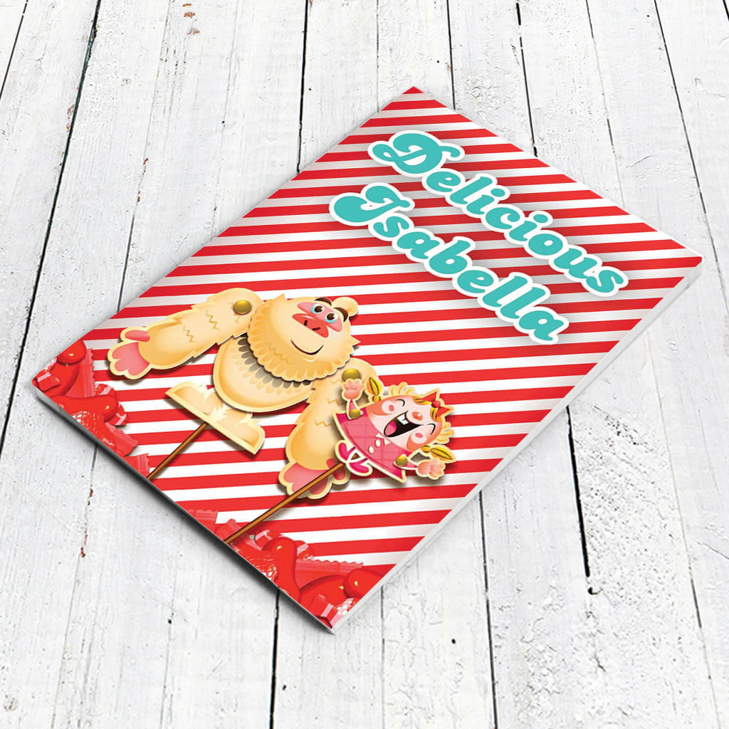 Mr Yetti & Tiffi Red Stripy Notepad (Lifestyle)