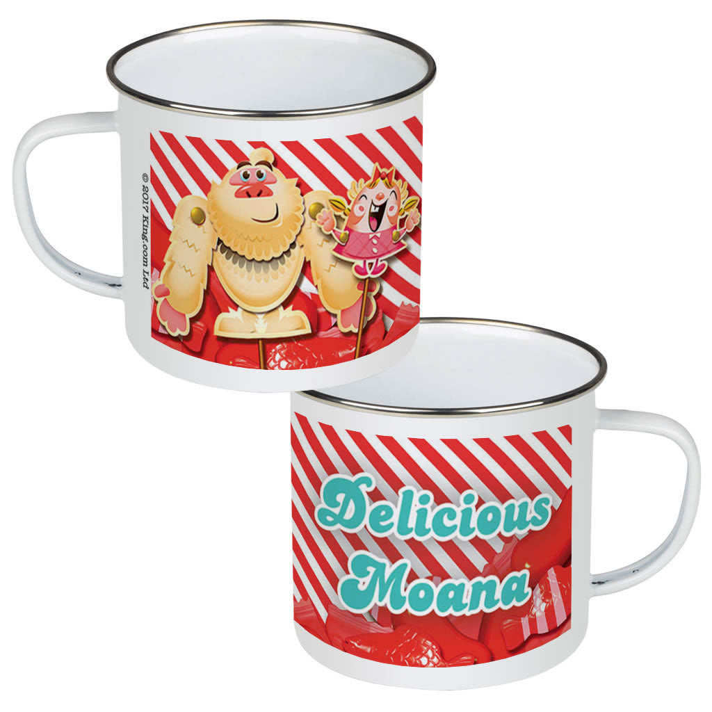 Mr Yetti & Tiffi Red Stripy Enamel Mug