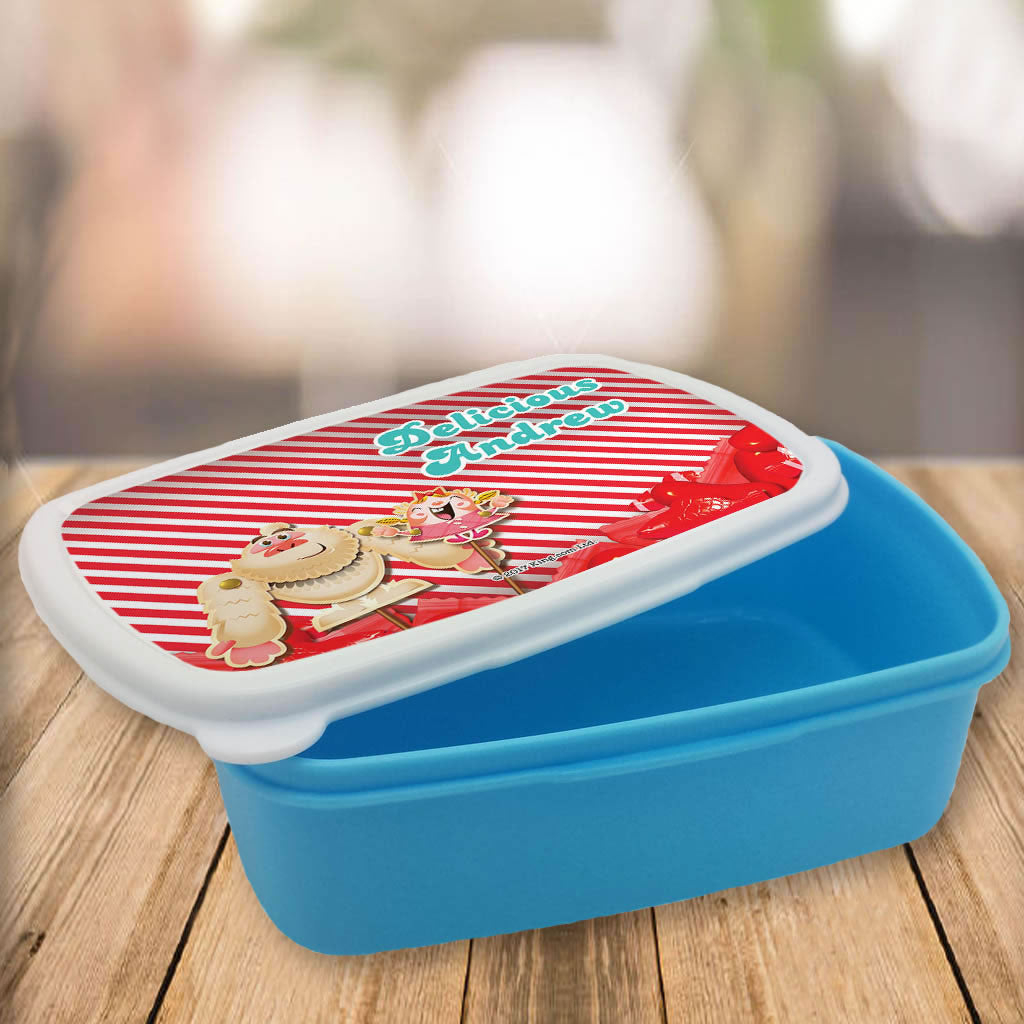 Mr Yetti & Tiffi Red Stripy Lunch Box (Lifestyle)