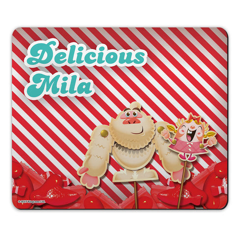 Mr Yetti & Tiffi Red Stripy Mouse Mat