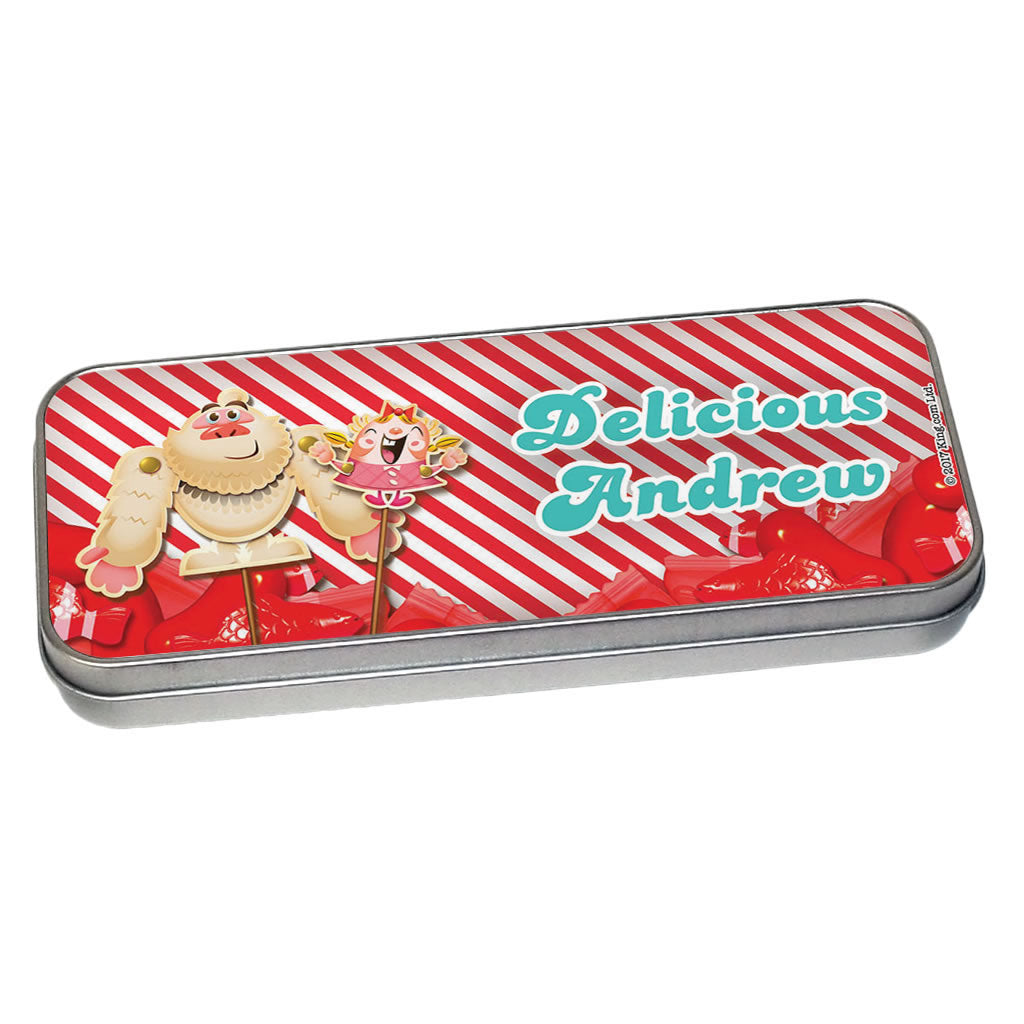 Mr Yetti & Tiffi Red Stripy Pencil Tin