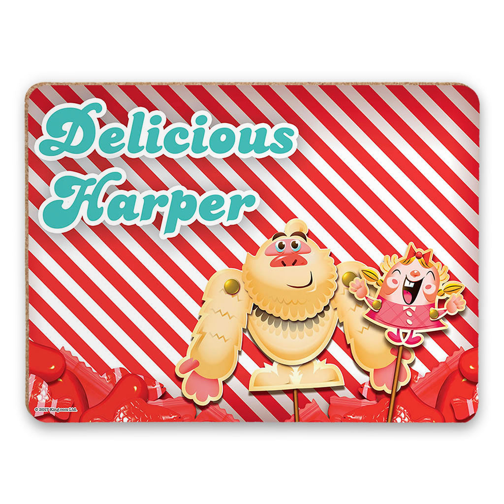 Mr Yetti & Tiffi Red Stripy Placemat