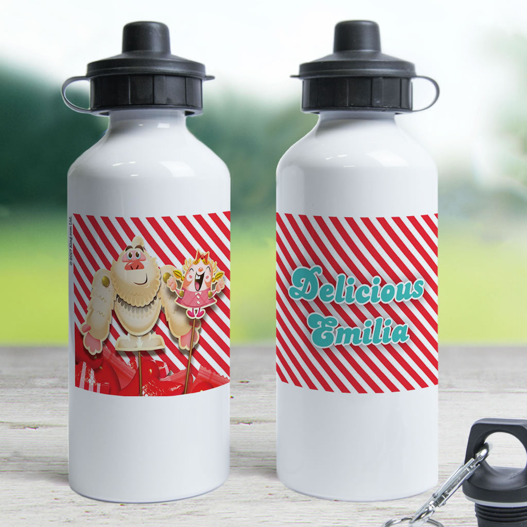 Mr Yetti & Tiffi Red Stripy Water Bottle (Lifestyle)
