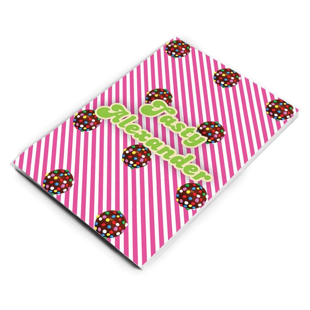 Colour Bomb Pink Stripy Notepad