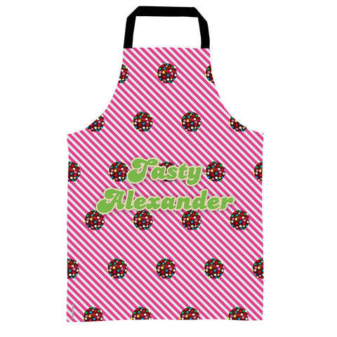 Colour Bomb Pink Stripy Apron