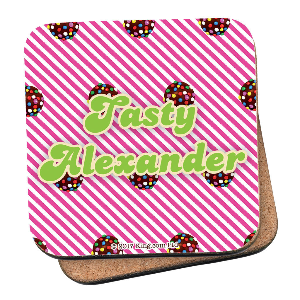 Colour Bomb Pink Stripy Coaster
