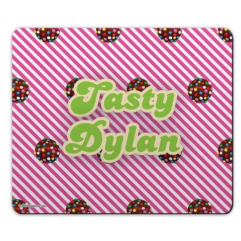 Colour Bomb Pink Stripy Mouse Mat