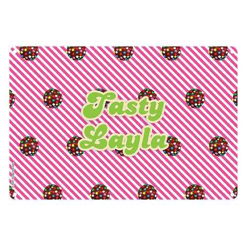 Colour Bomb Pink Stripy Metal Sign