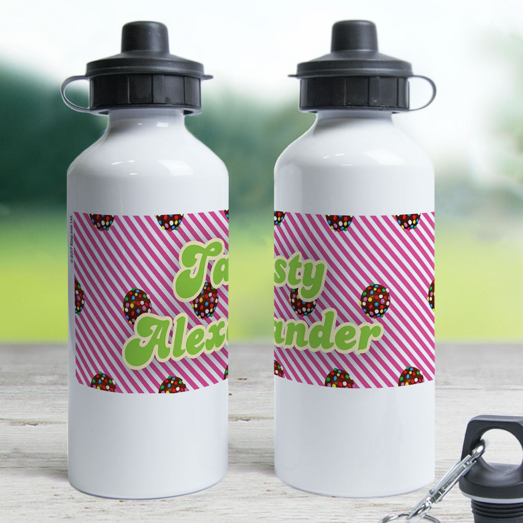 Colour Bomb Pink Stripy Water Bottle (Lifestyle)