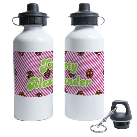 Colour Bomb Pink Stripy Water Bottle