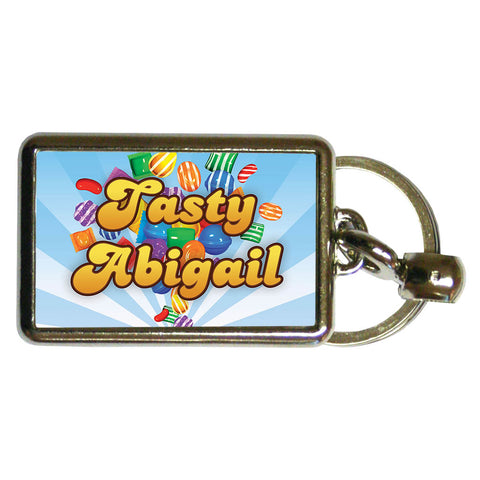 Falling candies Metal Keyring
