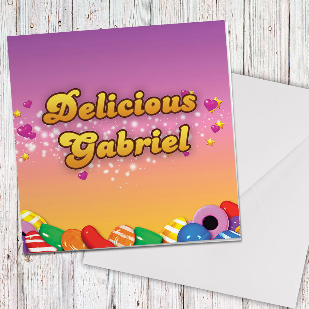 Candy Sparkle Greeting Card (Lifestyle)