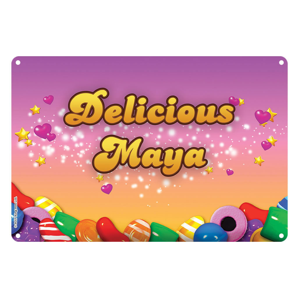 Candy Sparkle Metal Sign