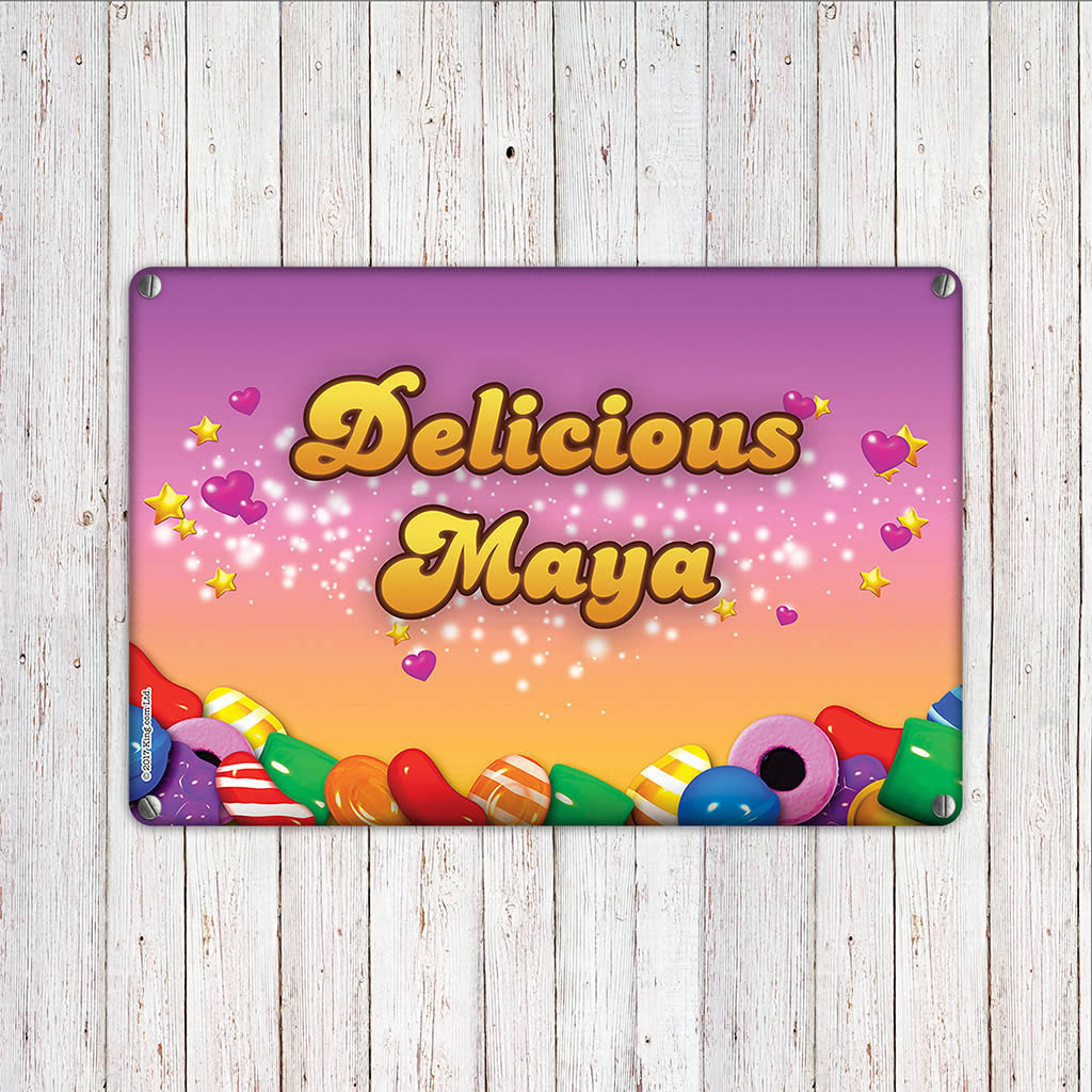 Candy Sparkle Metal Sign (Lifestyle)