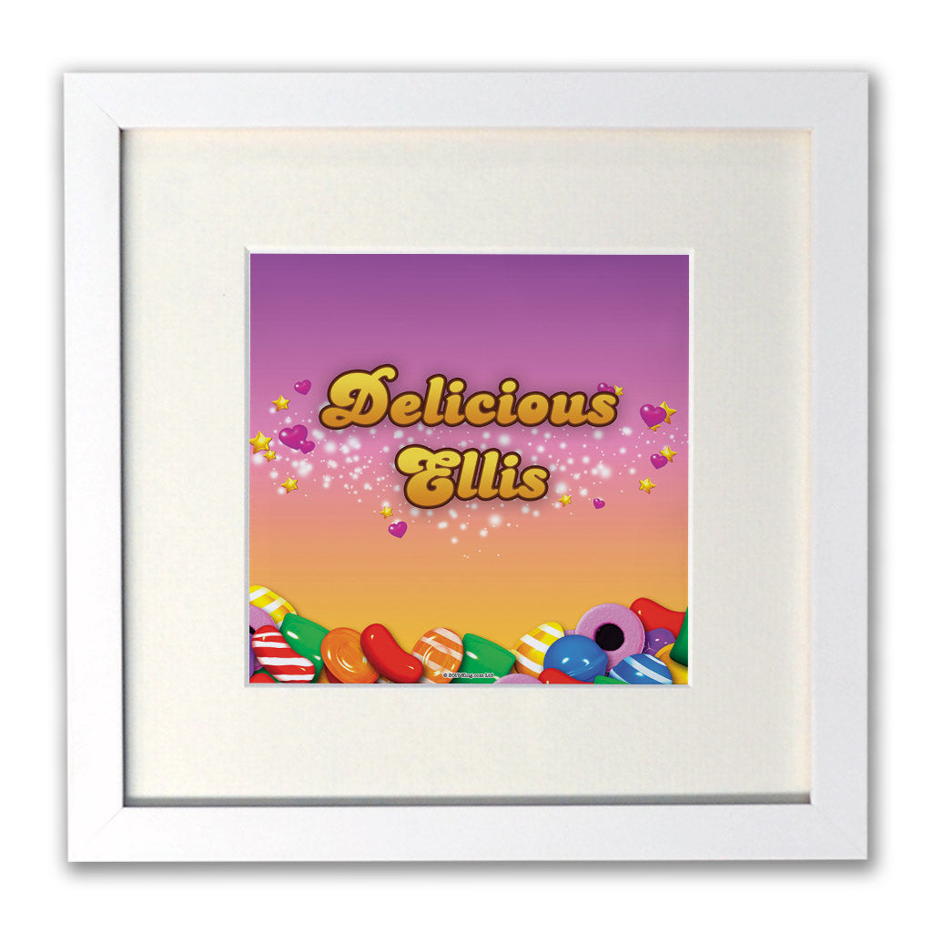 Candy Sparkle White Framed Print