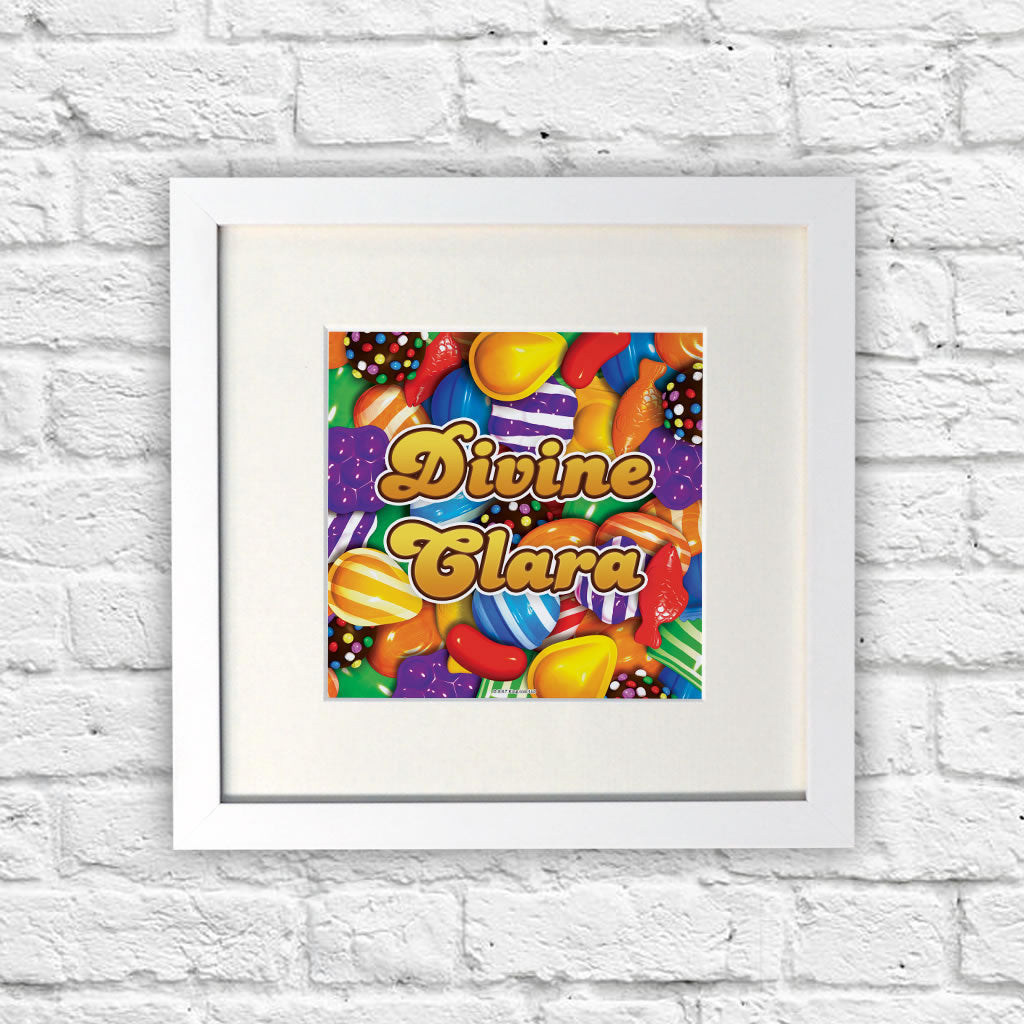 Candies White Framed Print (Lifestyle)