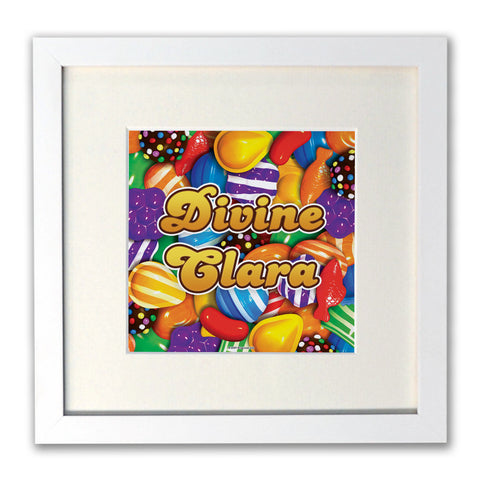 Candies White Framed Print