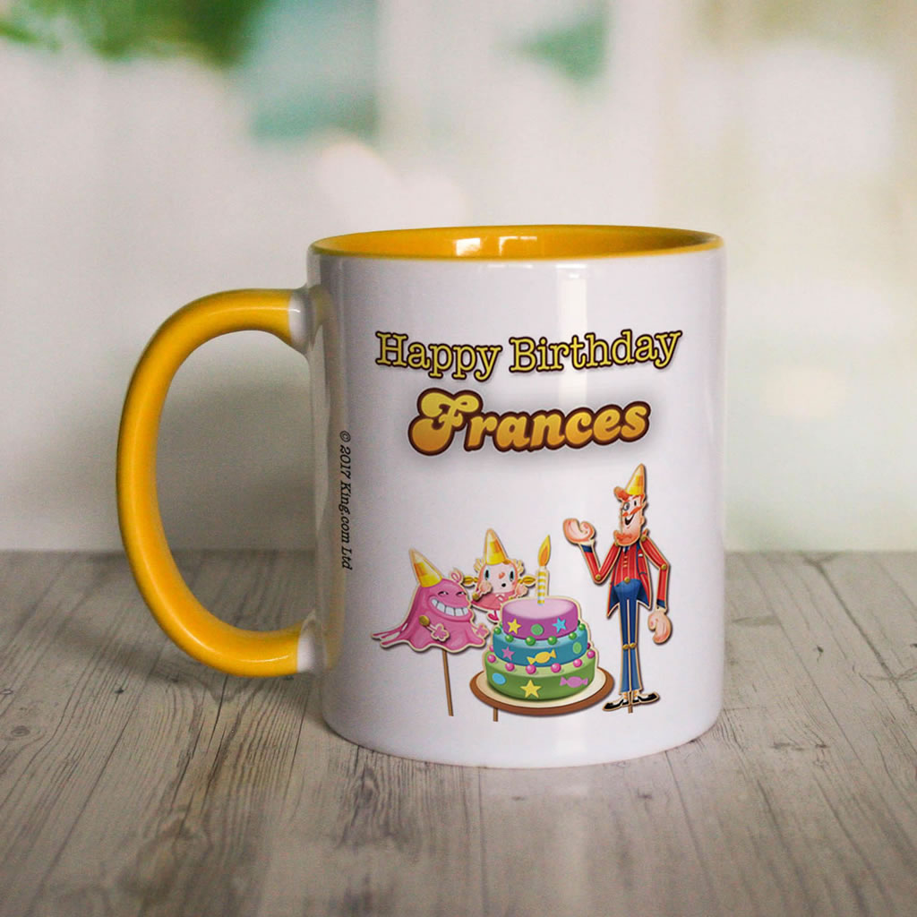 Happy Birthday Coloured Insert Mug (Lifestyle Front)