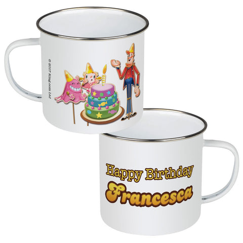 Happy Birthday Enamel Mug