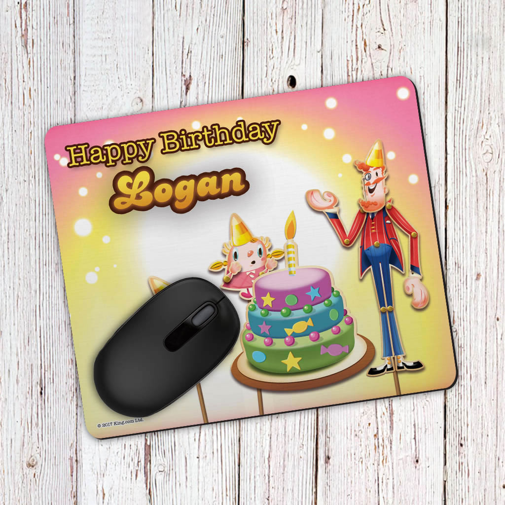 Happy Birthday Mouse Mat (Lifestyle)