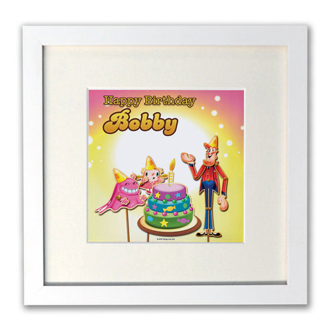 Happy Birthday White Framed Print