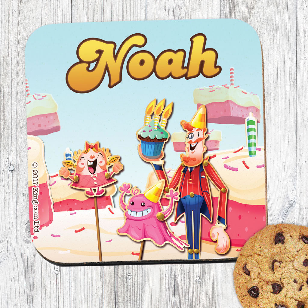 Tiffi & Mr Toffee Cake Coaster (Lifestyle)