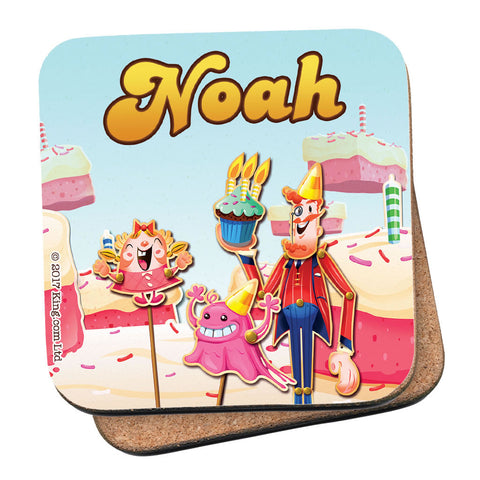 Tiffi & Mr Toffee Cake Coaster