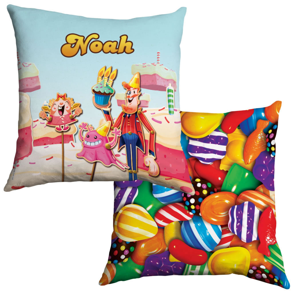 Tiffi & Mr Toffee Cake Cushion