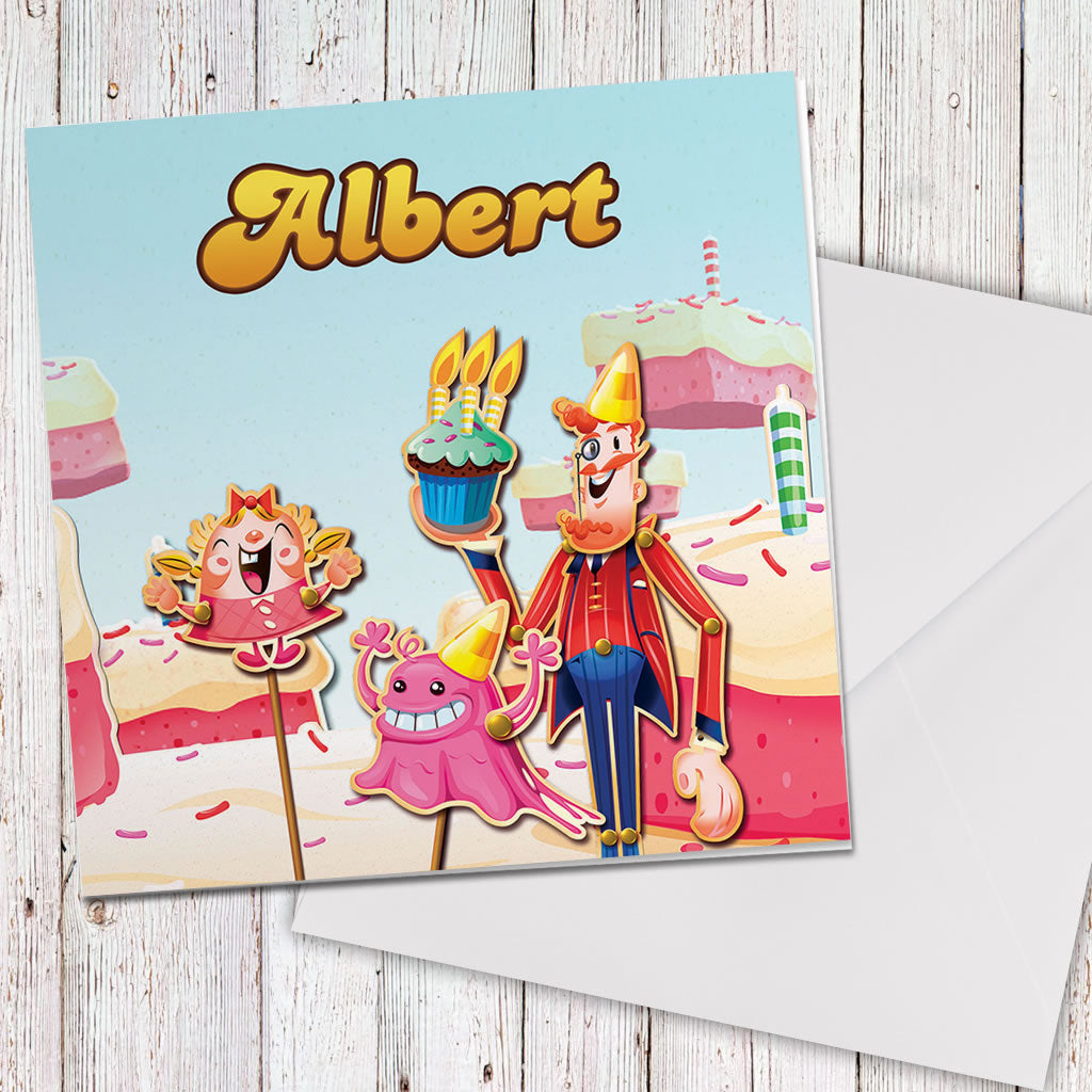 Tiffi & Mr Toffee Cake Greeting Card (Lifestyle)