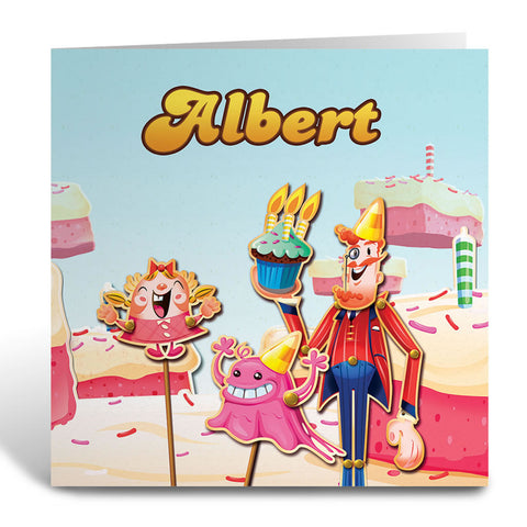 Tiffi & Mr Toffee Cake Greeting Card