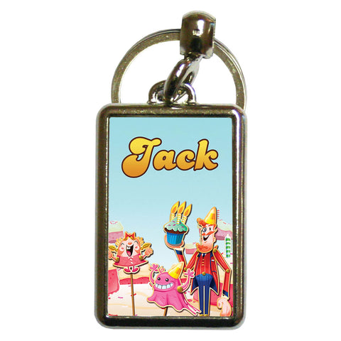 Tiffi & Mr Toffee Cake Metal Keyring