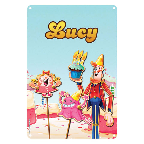 Tiffi & Mr Toffee Cake Metal Sign
