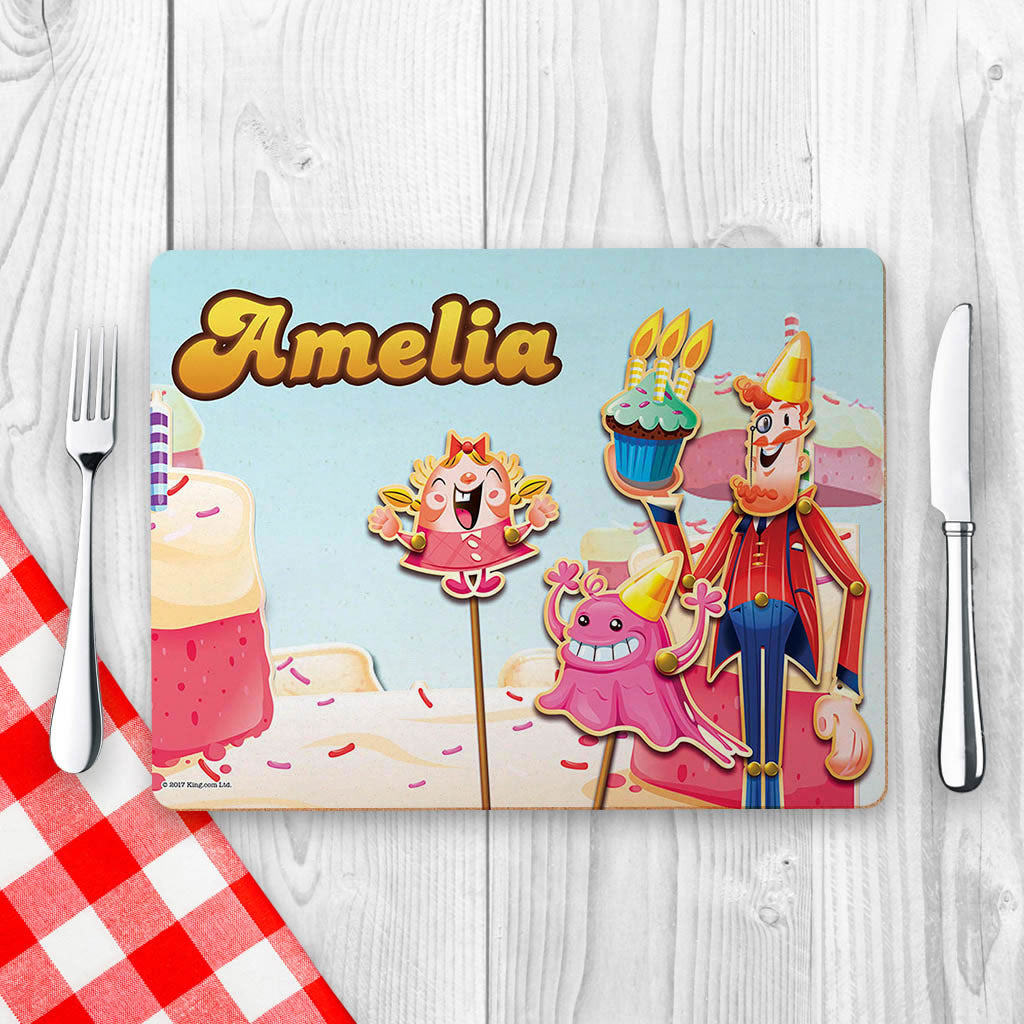 Tiffi & Mr Toffee Cake Placemat (Lifestyle)