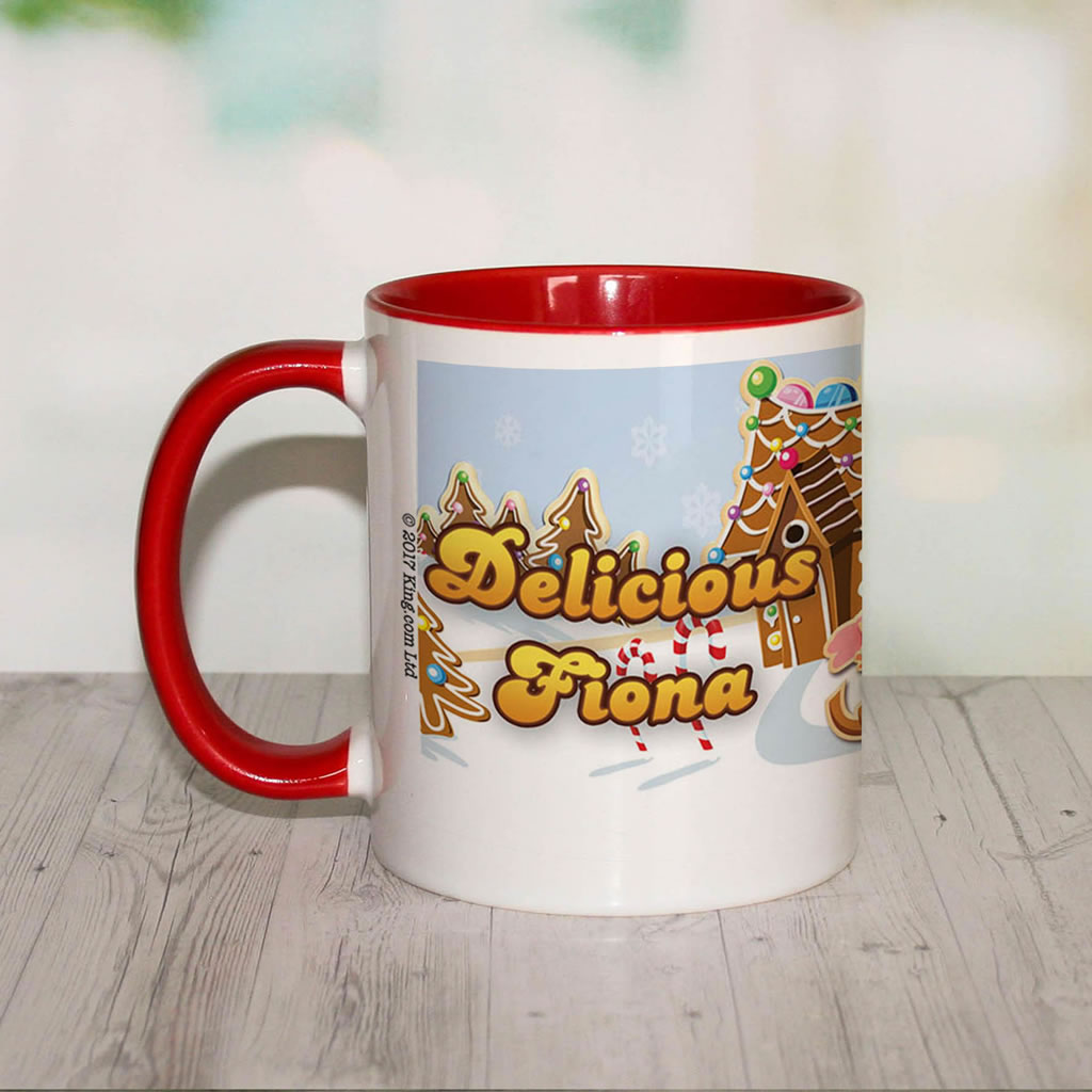 Merry Christmas Mr Yetti Coloured Insert Mug (Lifestyle Front)